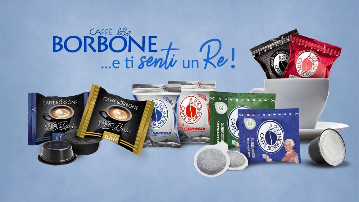 Slide promozionale Caffè Borbone